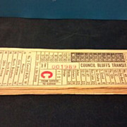 SALE Six Council Bluffs Transit Company street or horse car ticket stubs.  Southwest Globe Tic