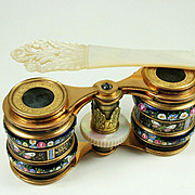 Important Pair of Palais Royal Enamel Opera Glasses signed SOLEIL, early 1820s