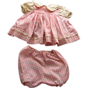 SALE Pink  Cotton Doll Dress and Pants