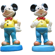 2 Vintage Mickey Mouse Figures  -  Walt Disney