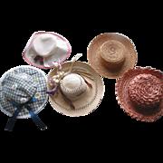 SOLD 5 Older Doll Hats