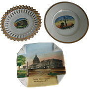 3  Small Washington DC Souvenir Plates