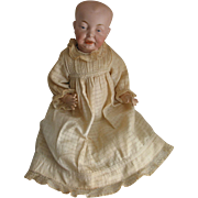 REDUCED Bisque Dome Head Antique Baby Doll