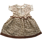 REDUCED Old Cotton Print Doll Dress