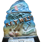 Key West Ceramic  Beam Whiskey  Bottle - 1972