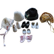 Small Doll Hats and Shoes