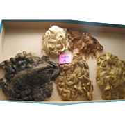REDUCED 5 Doll Wigs  -  Lot A