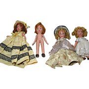 SALE 4 Storybook Type Dolls