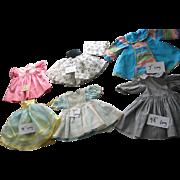 6 Older Doll Dresses