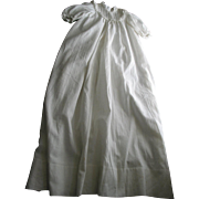 Long White Baby-Doll Dress