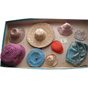 8 Older Used Doll Hats