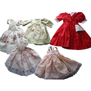 REDUCED 5 Old Larger Doll Dresses