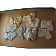 6 Pairs of Older Doll- Baby Booties
