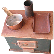 SALE Old Small Metal Doll Stove