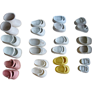 12 Pairs of Vinyl Doll Shoes