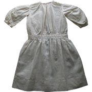 SALE White Cotton Antique Doll Dress