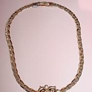 VINTAGE Pendent Choker Necklace Rhinestones