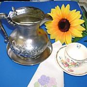 VICTORIAN Silver Small Tea Pot  Tea for Two