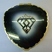 Unsigned 50's Enameled Compact  Rogue Pot Very Nice