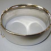 VINTAGE Whiting and Davis Bangle Bracelet Large Silver-tone