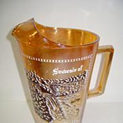 VINTAGE Jeannette Glass Co Souvenir  Niagara  Falls Water Pitcher