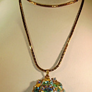 VINTAGE Vendome Swarovski Rivoli AB Pendant   Beautiful