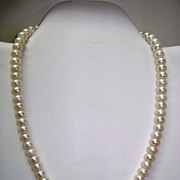 VINTAGE Strand of Fresh Water Pearls with Sterling Clasp