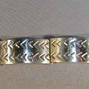 VINTAGE Mexican Silver Sterling Bracelet 7 Inches long