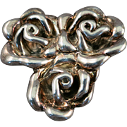 VINTAGE Free-flowing Sterling Flower Brooch Made in Israel  Special