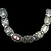 VINTAGE World War II   Sweetheart Jewelry  Forget me not Sterling Bracelet