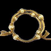 VINTAGE  Unsigned Lovely Curling Gold tone Bracelet