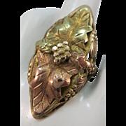VINTAGE Black Hills Gold Long Ring for your Middle Finger Size 7 3/4