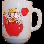 SALE Anchor Hocking Apple Dumpling Mug -- 1980's Strawberry Shortcake Collectible