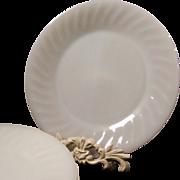 SET of SIX: Fire King Swirl Dinner Plates