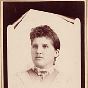 Victorian Woman Cabinet Card Photograph