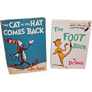 "Two Dr. Seuss Classics: ""The Cat in the Hat Comes Back"" © 1958  & ""The Foot .."
