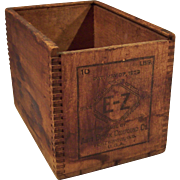 Vintage Wood Dovetailed Crate Box
