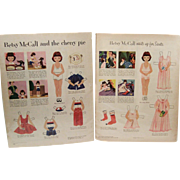 "Vintage Paper Dolls ""Betsy McCall"" Paper Dolls Copyright 1953"