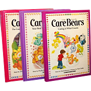 SALE Original 1980's Care Bears Large Books (Set of 3)