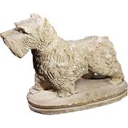 Chalkware Scottie Dog