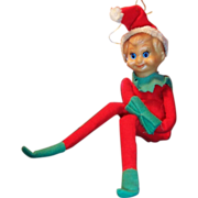 "Vintage Long Legged 12"" Tall Knee Hugger Elf"