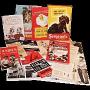 SALE C. 1940's Lot of Puppy Dog Brochures, Booklets & Pamphlets