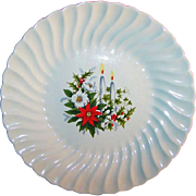 "7 1/4"" Vintage Holiday Candle Light Plate"