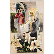 "Antique C. 1910  J. Baumann ""He is Risen""  Easter Postcard"