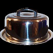 Everedy Mid-Century Chrome Cake Carrier / Keeper / Holder / Saver