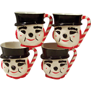 Set of 4: Children's Snowman Plastic Mugs by F & F Mold Die Works Inc.