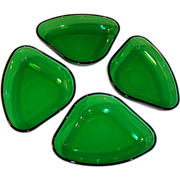 (4) Forest Green Relish Server Inserts