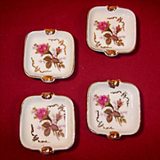 SALE Set of 4: Moss Rose Individual Ashtrays