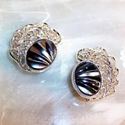 SALE Sarah Coventry Royal Plumage Earrings