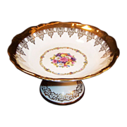SALE Vintage Royal Bayreuth Gloria Fine Porcelain Compote